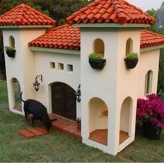 Mediterranean - Cool Doghouses - 10 Luxury Abodes for Pampered Pets - Bob Vila
