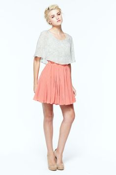 always loved this outfit {draped top and ruffled mini skirt} #pink