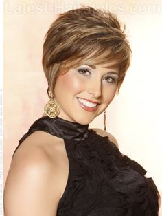 Feathered Bob Hairstyles with Bangs | ... Haircuts: 13 Totally Cute Pixie Haircut Ideas | Latest-Hairstyles.com