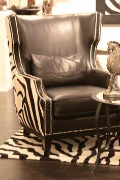 Zebra Print + Nailhead Trim Chair Best piece of furniture I have seen  Love it