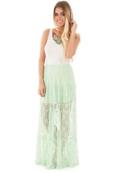 Lime Lush Boutique - Ivory and Mint Lace Sleeveless Maxi Dress, $22.95 (https://www.limelush.com/ivory-and-mint-lace-sleeveless-maxi-dress/)