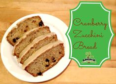#Cranberry #Zucchini Bread with Vanilla Glaze