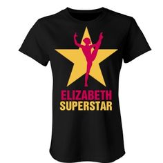 Elizabeth. Superstar  | An absolutely lovely gymnastics t-shirt. Beautiful colours and quality is number one.