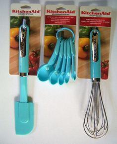 Amazon.com: KitchenAid Turquoise 3 Piece Culinary Utensil Set: Kitchen & Dining