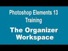 Photoshop Elements 13 Tutorial - The Photoshop Elements Organizer Workspace - YouTube