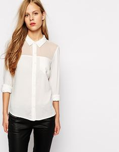 Buy Vila White Blouse at ASOS. With free delivery and return options (Ts&Cs apply), online shopping has never been so easy. Get the latest trends with ASOS now. Fashion Collage, Models, Big Fashion, Camisole, Style Me, Asos, Creations, Shirts, Stuff To Buy