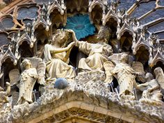 Reims Cathedral, Christian Art, Lion Sculpture, Statue, Catholic Art, Sculpture