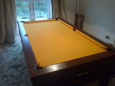 Pool table fitted with gold cloth Pool Deck Plans, Pool Table, Gold, Decor, Bumper Pool Table, Decoration, Decorating, Deco, Yellow