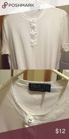 Short sleeve POLO shirt White short sleeve 3 button Polo by Ralph Lauren Shirts Tees - Short Sleeve
