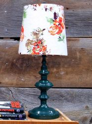If you ever come across a great lamp but hate the shade, remember you can create a new lampshade yourself! Make one that fits your style and home decor. For a great idea, check out Lia's Custom Lampshades.