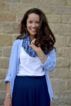 How to style blues in your spring outfit : MartaBarcelonaStyle's Blog