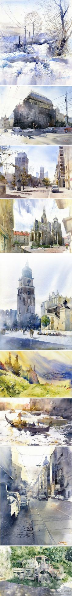 Grzegorz Wróbel #watercolor jd