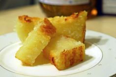 Vietnamese Cassava cake. Yum! 1 package of frozen grated cassava (see information above). Drain well. You should have 1.5 cup in the end 1/2 cup castor sugar 2 tablespoons condensed milk 1 egg 1/2 cup + 2 tablespoons coconut milk