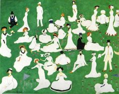 Kazimir Malevich, Rest. Society in Top Hats, Russia, 1908
