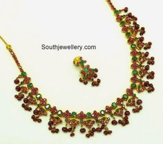 ruby emeralds necklace