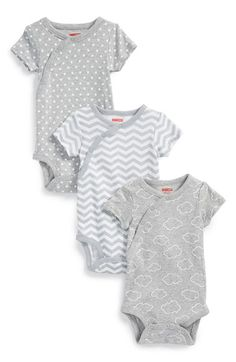 Skip Hop Cotton Bodysuits (Set of 3) (Baby Girls) available at #Nordstrom