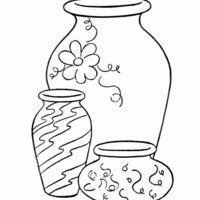 desenhos de vasos de barro para colorir - Pesquisa Google