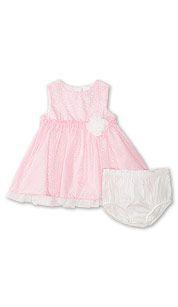 Vestido bebé en rosa
