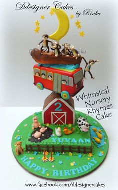 Whimsical Nursery Rhymes Cake