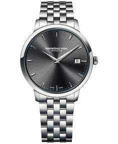 RAYMOND WEIL Men's Swiss Toccata Stainless Steel Bracelet Watch 42mm 5588-ST-60001 - RAYMOND WEIL - Jewelry & Watches - Macy's