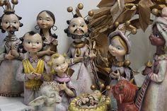Christmas nativity vintage aged nativity scene by cgraceandcompany