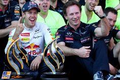 Christian Horner, Sebastian Vettel, Red Bull, 2013 German Formula 1 Grand Prix, Formula 1