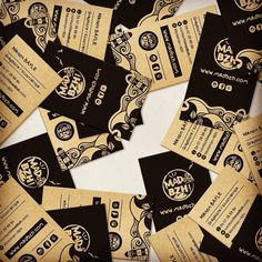 Black & Kraft - La nouvelle carte de visite MAD BZH Stickers, Playing Cards, Carte De Visite, Cards, Playing Card Games, Game Cards, Decals, Playing Card