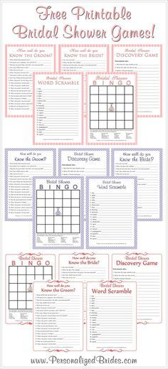 Free printable bridal shower games! @ decorating-by-daydecorating-by-day