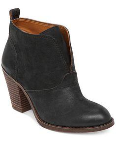 Lucky Brand Women's Ehllen Booties leather black 2.9h sz7.5 139.00