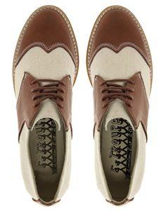 F-Troupe Stitch Detail Saddle Shoes