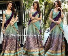 Diksha Panth in Bhargavi Kunam Half Saree – South India Fashion Indian Dresses, Indian Outfits, Indian Clothes, Latest Designer Sarees, Designer Dresses, Half Saree Designs, South Indian Sarees, 2016 Fashion Trends, Trendy Sarees