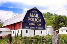 Beautiful Mail Pouch barn located at the Heritage Farm in Mason County, WV. Courtesy of Kody Ward