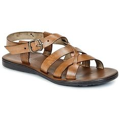 Leather tanned using vegetable extracts: these sandals are perfect for urban trendsettesr who care about the environment. Very casual, they also have another great feature: the comfortable softbed sole. - Colour : Elephant - Shoes Men £ 60.00