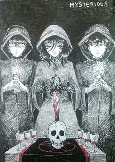Mysterious by TachTan on DeviantArt Yendere Simulator, Evil Children, Yandere Manga, Grunge Art, Love Sick, Dark Anime, Drawing Skills, Aesthetic Anime, Mirai Nikki