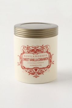 Sweet Vanilla & Cinnamon: a comforting blend of nutmeg, vanilla bean and cinnamon crust...one of the best smelling candles ever... #anthropologie