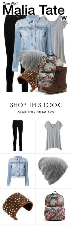 """""""Teen Wolf"""" by wearwhatyouwatch ❤ liked on Polyvore featuring J Brand, TravelSmith, 3x1, Coal, Leatherock, Vera Bradley, television, wearwhatyouwatch and plus size clothing"""