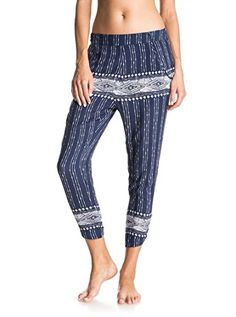Roxy Juniors Tropic Bell Printed Pant Dancing On Combo Blue Print Medium *** Details can be found by clicking on the image.