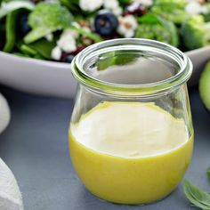 Vinaigrette crémeuse Sauces, Sauce Crémeuse, Cold Meals, Glass Of Milk, Panna Cotta, Cold Food, Pudding, Fruit, Ethnic Recipes