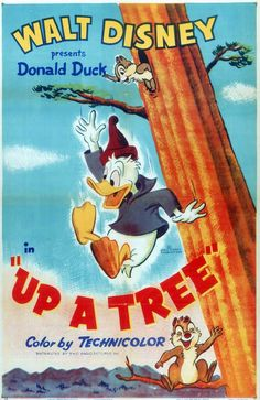 1955 - Up A Tree -- Disney short with Donald Duck and Chip 'n Dale -- Jack Hannah was still working for Disney at this point