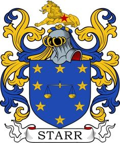 Starr Family Crest and Coat of Arms