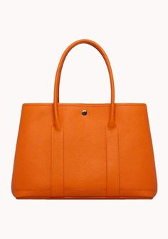 New Popular 37CM Tote Bag Calfskin Leather Orange