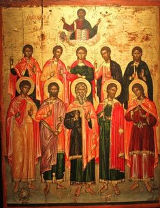 Science of the Saints, Dec.) The Holy Ten Martyrs of Crete. Russian Icons, Byzantine Art, Orthodox Icons, Crete, Ancient History, Holi, Saints, Religion, Science