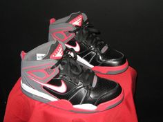 e19df33dd91e Men s Nike Air Flight Falcon Hi Top Sneakers Size 8.5 Black Grey Red Wht