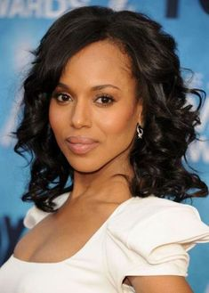 Medium Length Weave Hairstyle with Curls  Womens Hairstyles