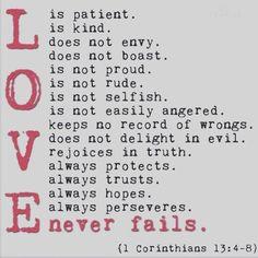 #Love never fails.  O #amor nunca falha.  MDFe.org