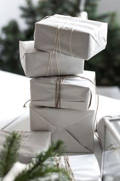 newsprint gift wrap...