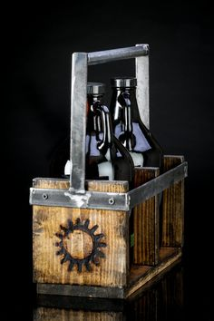 Rustic Industrial Growler Carrier by Velorossa on Etsy