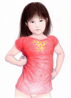 少女のカラダと赤い服 .スケッチ 10.23 torubido