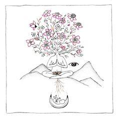 Merakilabbe – honoring the feminine and mother earth Kunst Inspo, Art Inspo, Illustrations, Illustration Art, Birth Art, Mystique, Watercolor Paper, Just In Case, Body Art