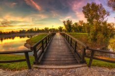 Wooden bridge - null